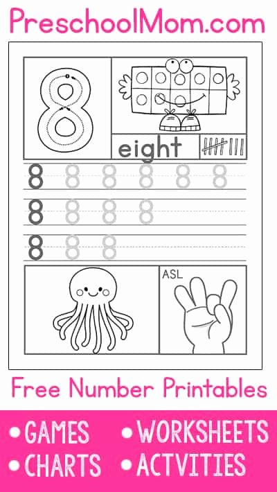 Worksheets for Preschoolers Numbers Unique Preschool Number Worksheets Preschool Mom