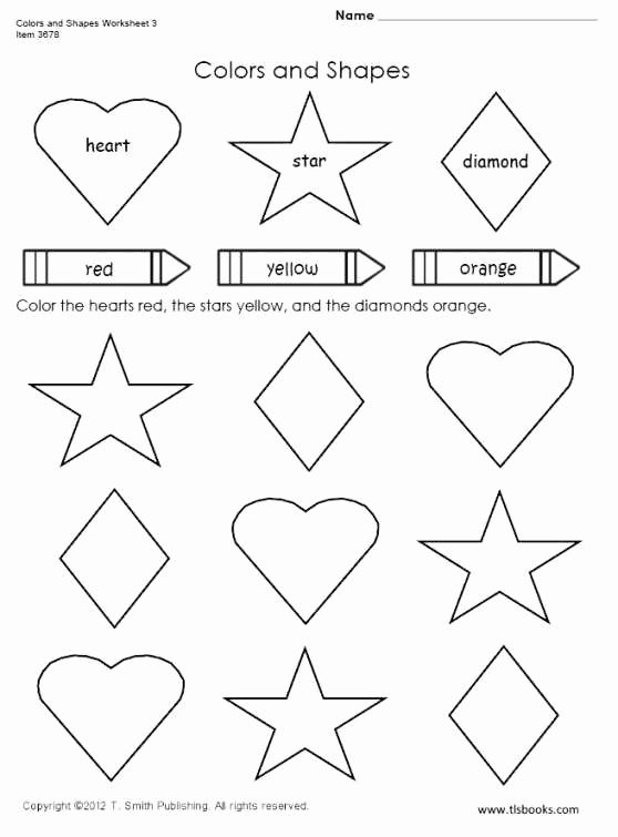 Worksheets for Preschoolers On Colors Beautiful Colors and Shapes Worksheet Preschool Worksheets