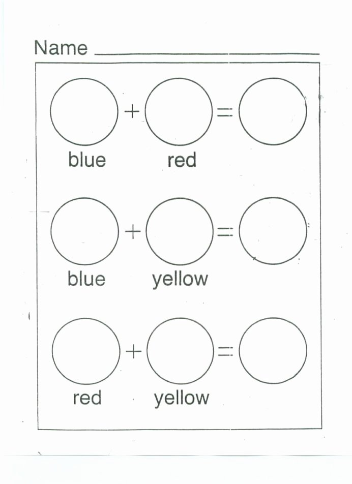 Worksheets for Preschoolers On Colors Inspirational Color Mixing Printable Worksheet Google Search with