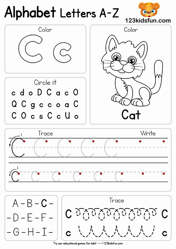 Worksheets for Preschoolers On Letters Best Of Free Alphabet Practice A Z Letter Worksheets