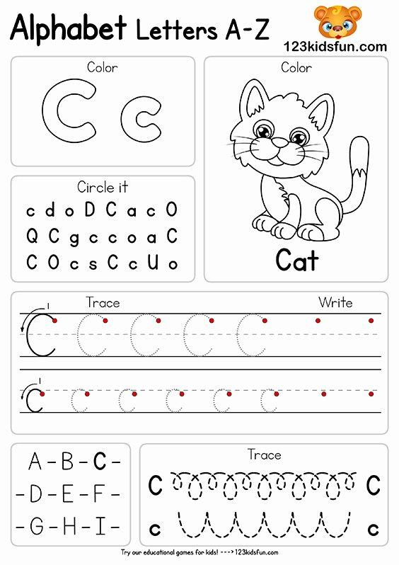Worksheets for Preschoolers On Letters Best Of Free Alphabet Practice A Z Letter Worksheets