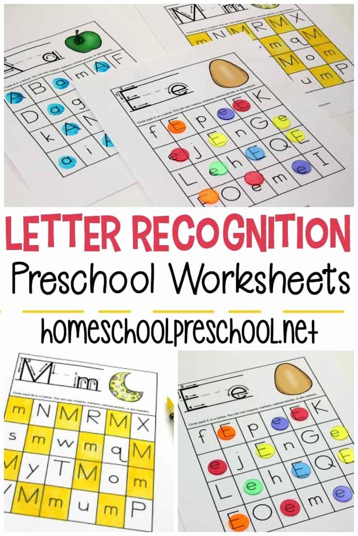 Worksheets for Preschoolers On Letters Best Of Free Printable Letter Recognition Worksheets for Preschoolers