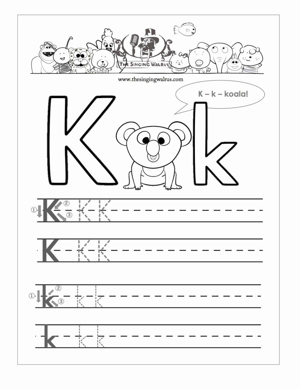 Worksheets for Preschoolers On Letters Best Of Worksheet Free Printable Letter K Barka astonishing