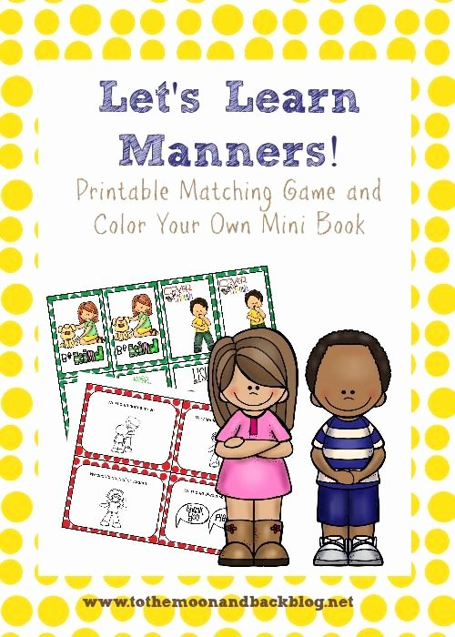 Worksheets for Preschoolers On Manners Awesome Learning About Manners Free Printables and Ideas