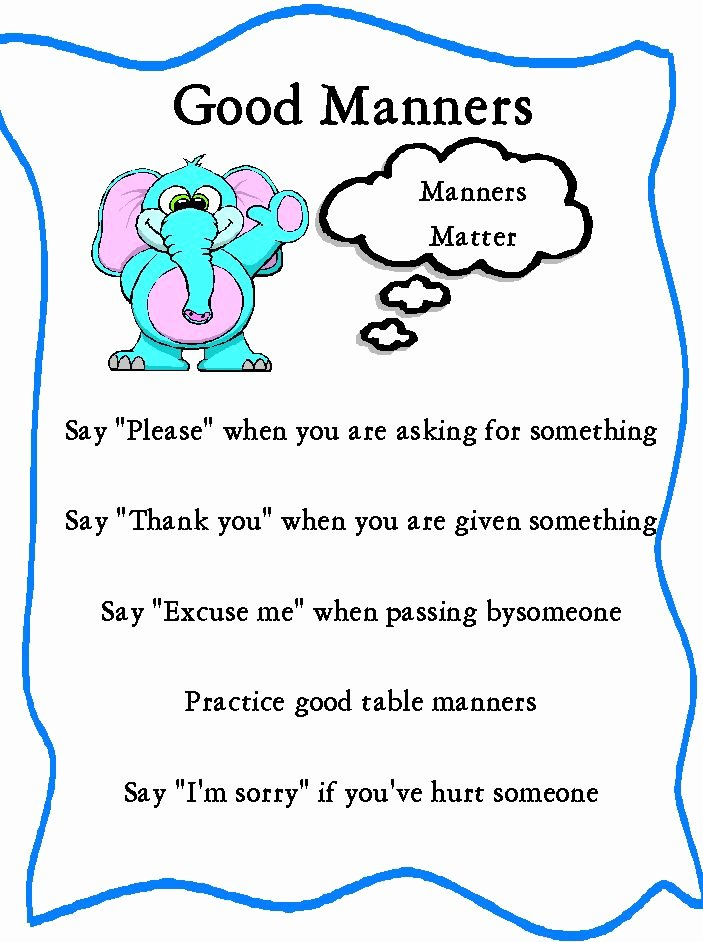 Worksheets for Preschoolers On Manners Lovely Manners Bing