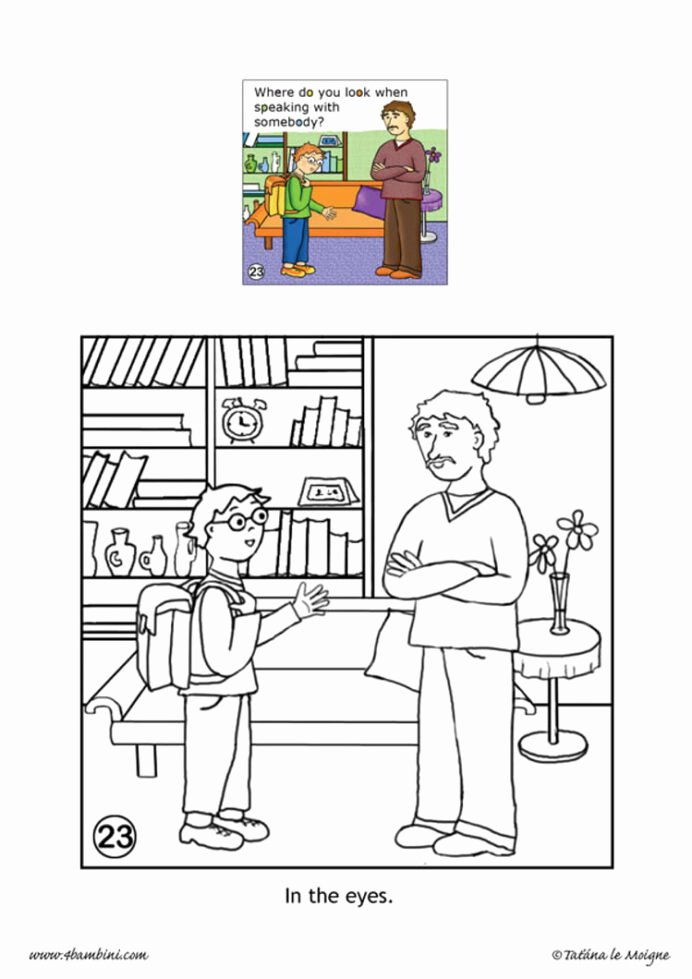 Worksheets for Preschoolers On Manners New Good Manners Coloring Hellokids Free Eyes Looking In the