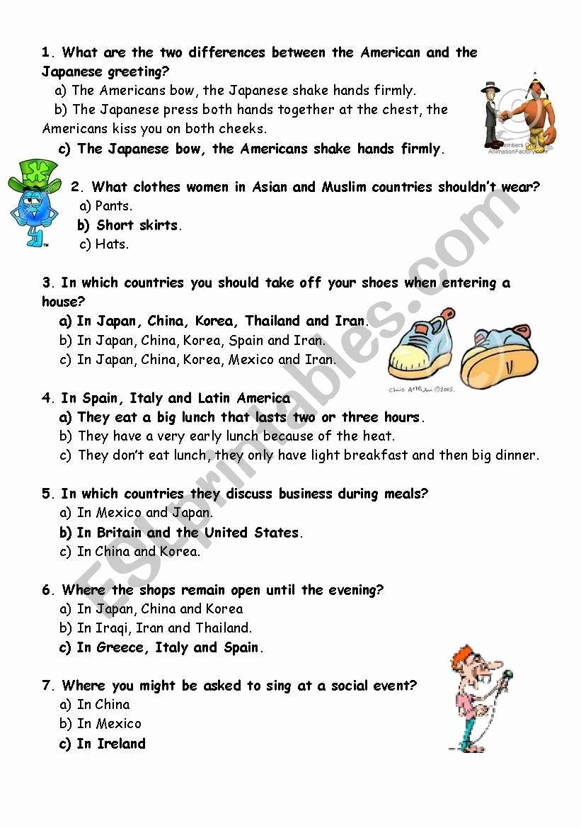 Worksheets for Preschoolers On Manners Unique Quiz Good Manners Esl Worksheet by Mojcafurlan