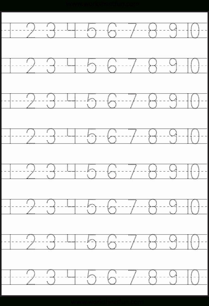 Worksheets for Preschoolers On Numbers New Number Tracing Worksheet Generator Printable Numbers to