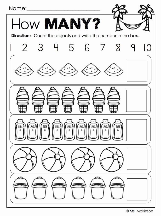 Worksheets for Preschoolers On Numbers Unique End the Year Activities Kindergarten Worksheets Preschool