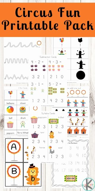 Worksheets for Preschoolers Printable Awesome Worksheet Free Circus Worksheets Preschool Kindergarten