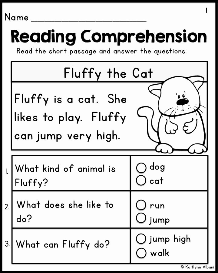 Worksheets for Preschoolers Reading Awesome Kindergarten Reading Prehension Passages Set 1 Freebie