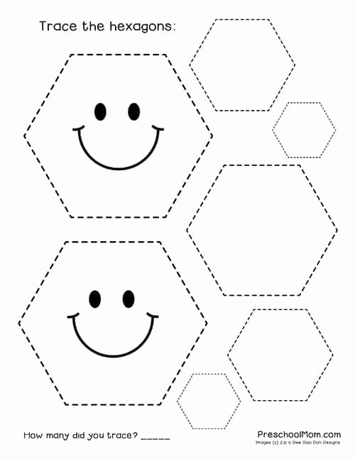 Worksheets for Preschoolers Shapes Awesome Shape Tracing Worksheets Preschool Mom