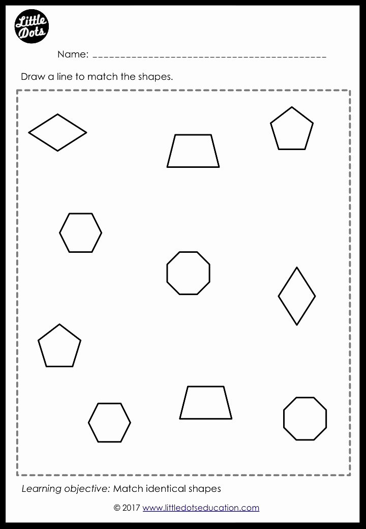 Worksheets for Preschoolers Shapes Fresh Preschool Shapes Matching Worksheets and Activities