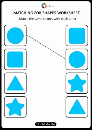 Worksheets for Preschoolers Shapes Lovely Download Free Matching Shapes Worksheets for 18 24 Months