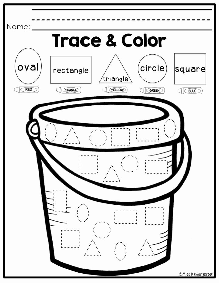 Worksheets for Preschoolers Shapes top Shape Trace Worksheet for Preschool Kids