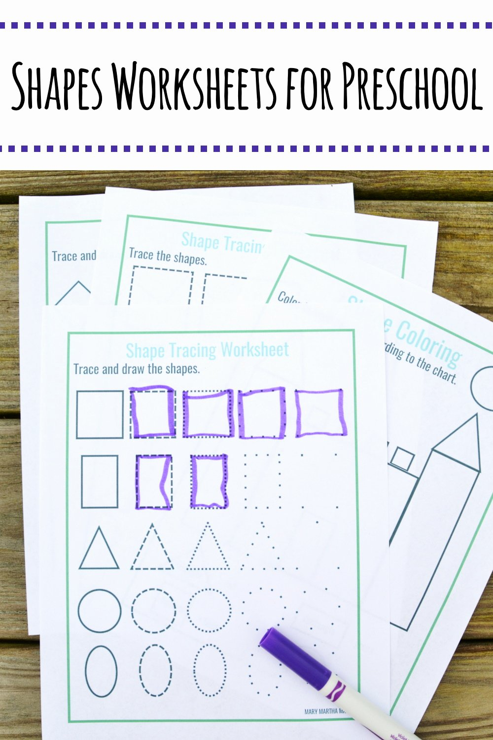 Worksheets for Preschoolers Shapes Unique Shapes Worksheets for Preschool [free Printables] – Mary