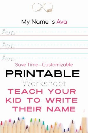 Worksheets for Preschoolers to Write their Name New Teach Your Preschooler to Write their Name Inspired My Love
