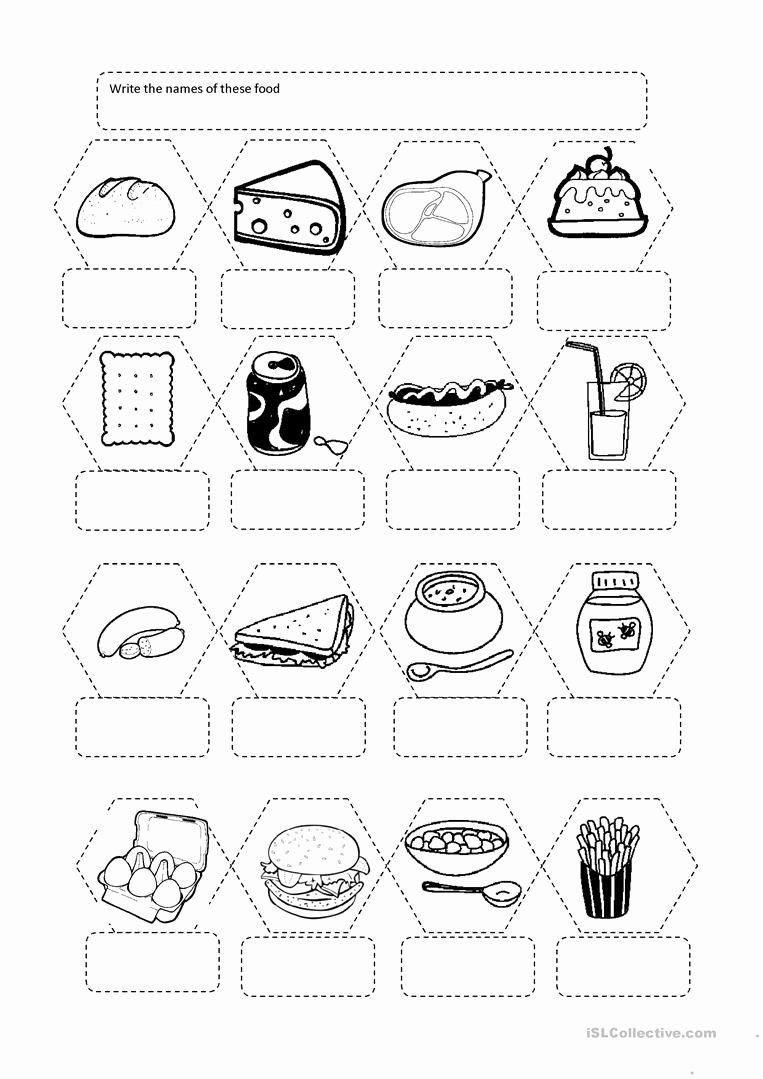 Worksheets for Preschoolers to Write their Name New Worksheet Worksheetrite the Names Food English
