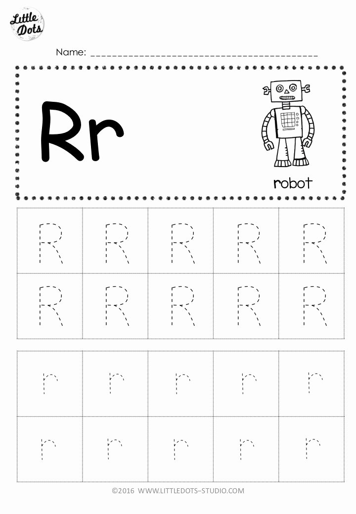 Worksheets for Preschoolers Tracing Letters Fresh Free Letter R Tracing Worksheets