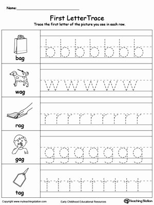 Worksheets for Preschoolers Tracing Letters Unique Lowercase Letter Tracing Un Words