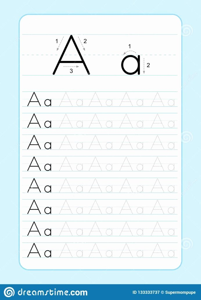 Writing Abc Worksheets for Preschoolers Inspirational Alphabet Letters Tracing Worksheet with Letter Practice