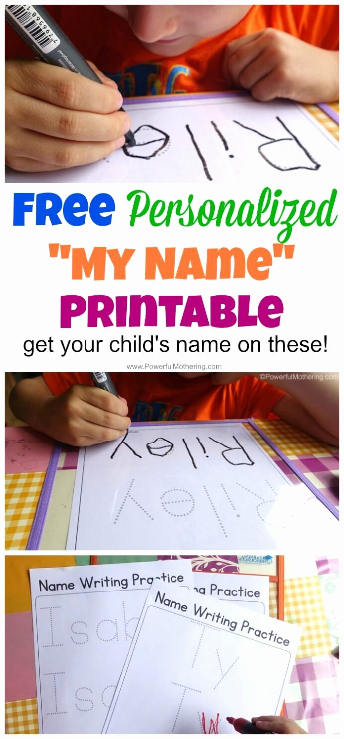 Writing Name Worksheets for Preschoolers Best Of Free Name Tracing Worksheet Printable Font Choices