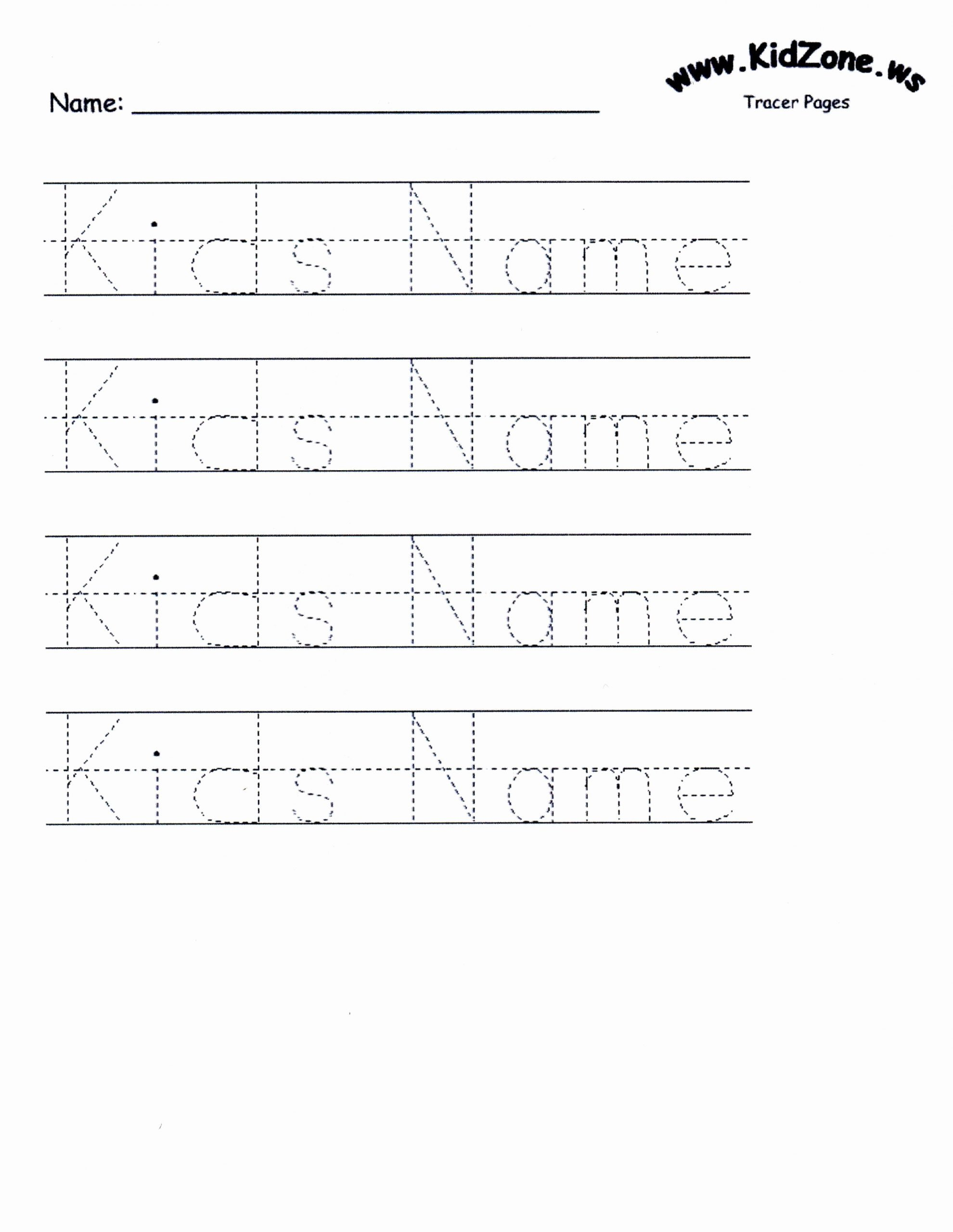 Writing Name Worksheets for Preschoolers Fresh Custom Tracer Pages