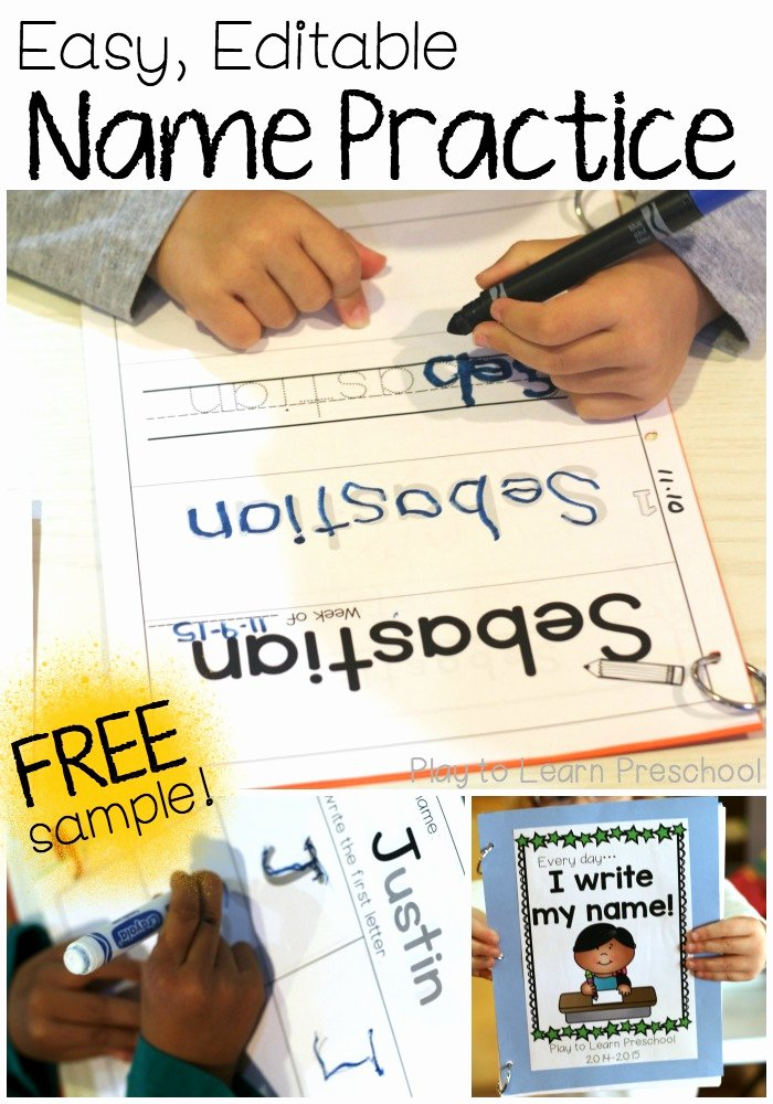 Writing Name Worksheets for Preschoolers Fresh Easy Name Practice