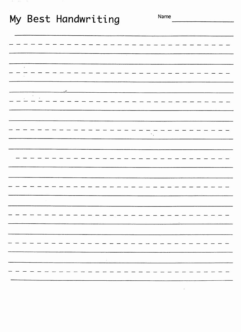 Writing Name Worksheets for Preschoolers New Math Worksheet Blank Hand Writing Sheet with