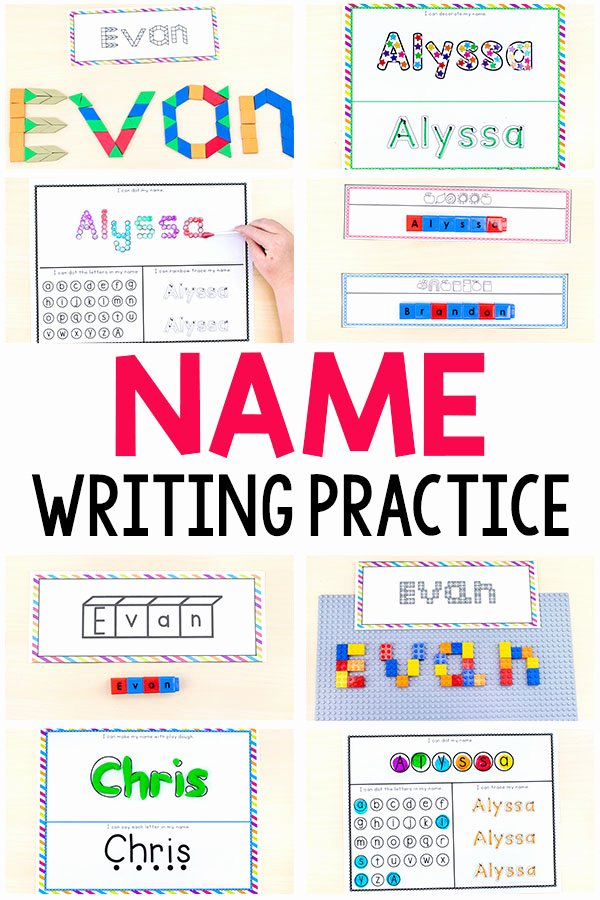 Writing Name Worksheets for Preschoolers New Name Writing Practice Activities and Name Tracing Worksheets