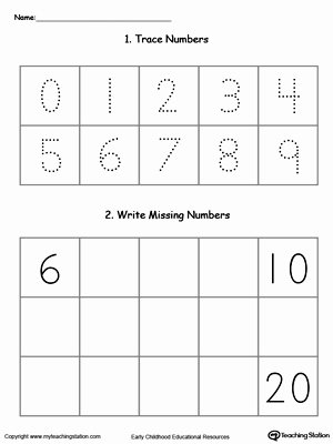 Writing Numbers Worksheets for Preschoolers Awesome Kindergarten Writing Numbers Printable Worksheets