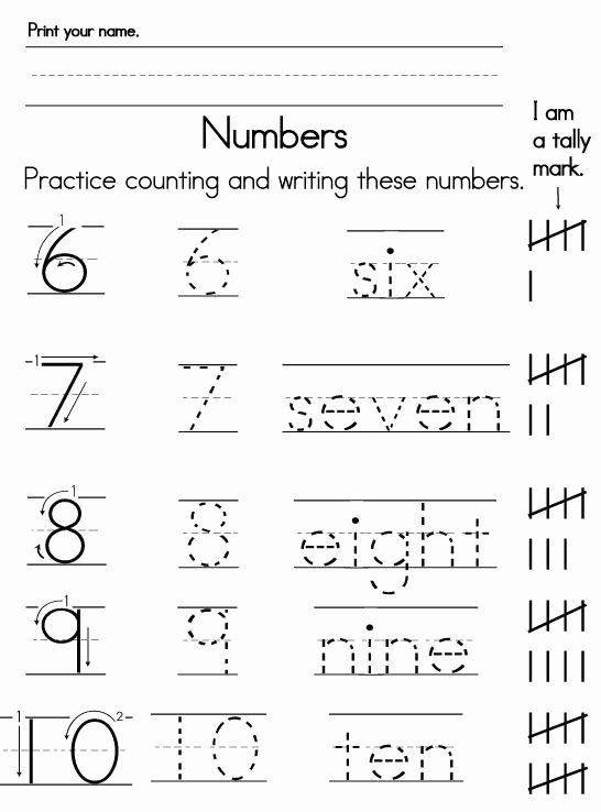 Writing Numbers Worksheets for Preschoolers Awesome Number Worksheets