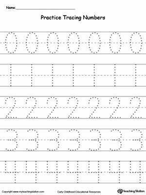 Writing Numbers Worksheets for Preschoolers New Writing Numbers In Sequence 0 29
