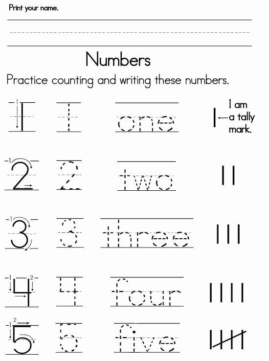 Writing Numbers Worksheets for Preschoolers top Number Worksheets