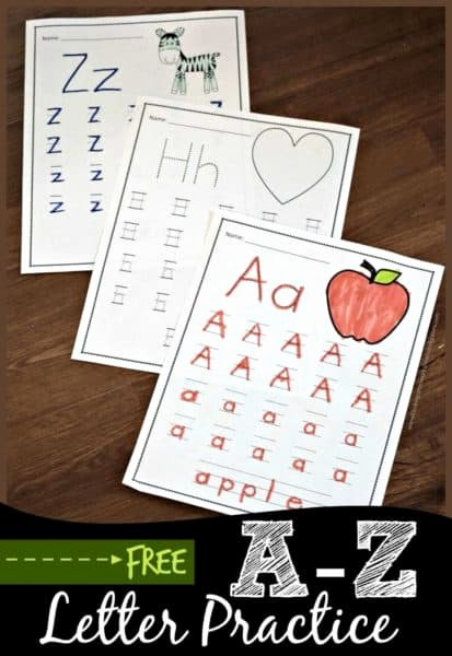 Writing the Alphabet Worksheets for Preschoolers Fresh Free A to Z Worksheets for Kindergarten