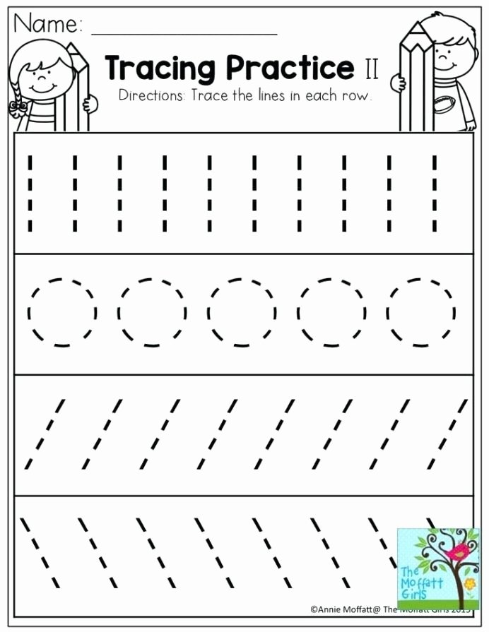 Writing Worksheets for Preschoolers Beautiful Pre Writing Strokes Worksheets tons Printable for Line