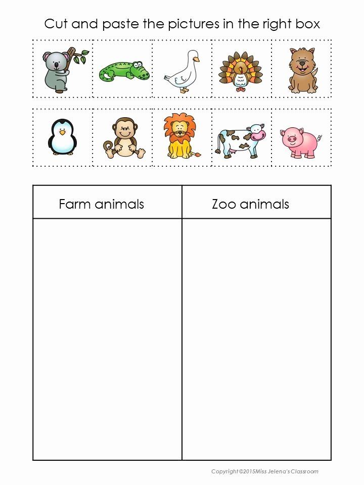 Zoo Animal Worksheets for Preschoolers Beautiful 2017 10 Bondeg¥rdsdyr Eller Zoologisk Have Dyr