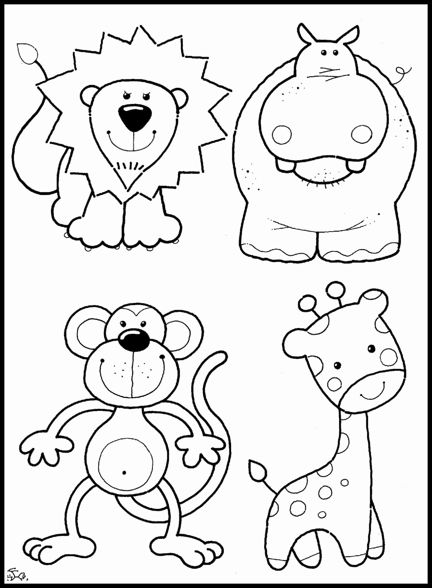 Zoo Worksheets for Preschoolers Fresh Coloring Best Printable Zoo Animal with for Baby Worksheets