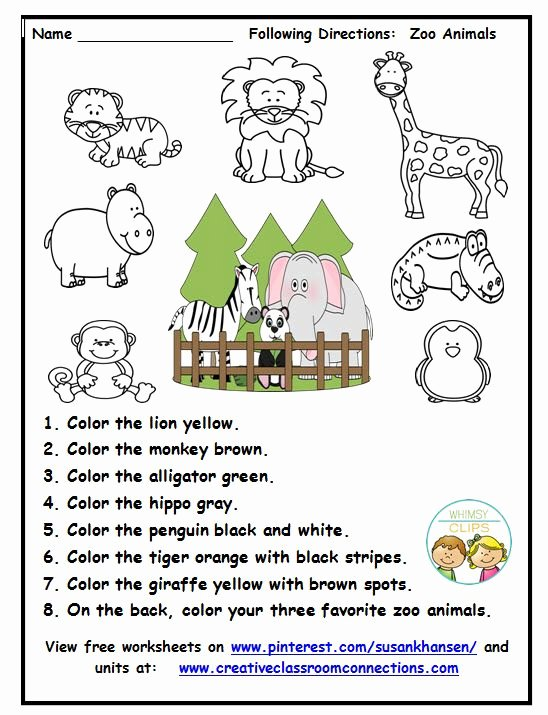 Zoo Worksheets for Preschoolers Fresh This Zoo Worksheet Provides Practice for Students to Read