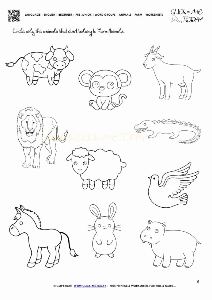 Zoo Worksheets for Preschoolers Inspirational Farm Animals Worksheet Activity Sheet Animal Worksheets Zoo