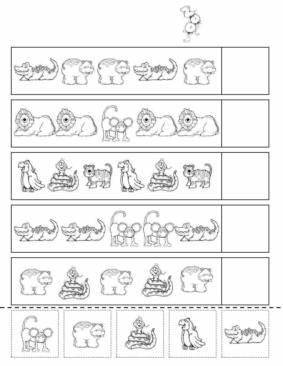 Zoo Worksheets for Preschoolers Lovely Zoo Patterns Scribd