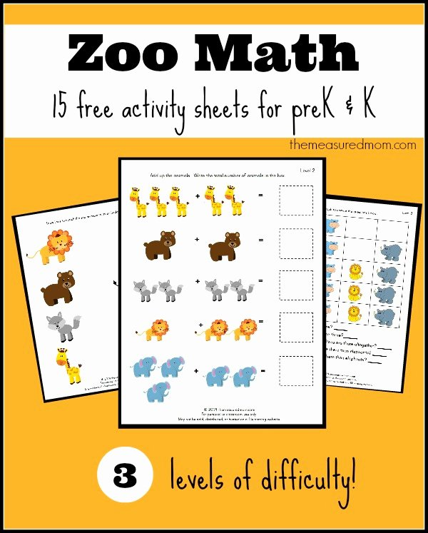 Zoo Worksheets for Preschoolers New Free Zoo Worksheets for Preschool and Kindergarten the