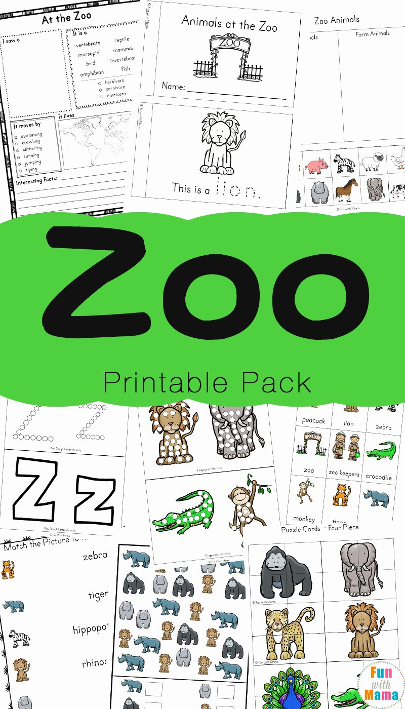 Zoo Worksheets for Preschoolers Unique Zoo Animal Activities for Preschoolers Kindergarteners