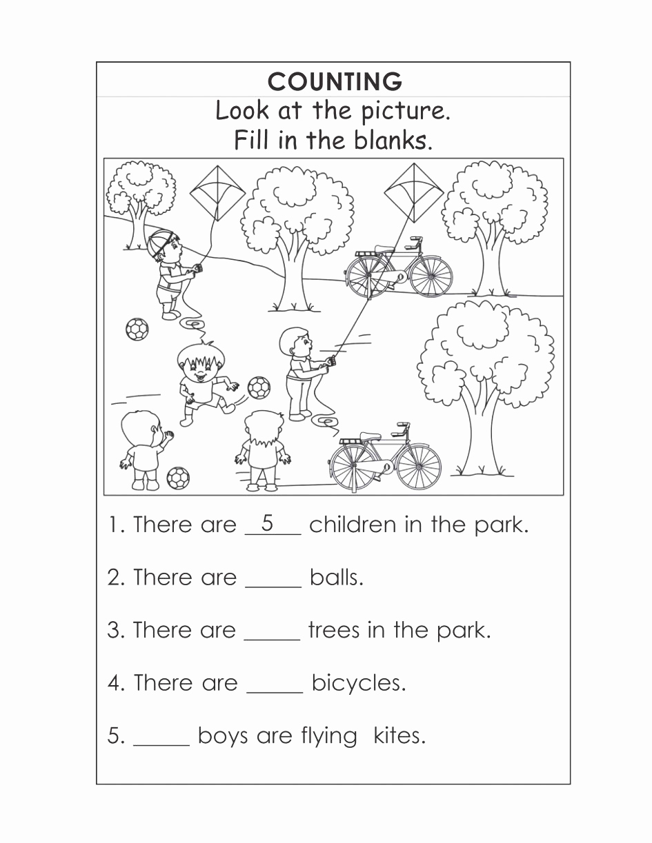 Exercise Worksheets for Kids Unique Worksheet English Exercises for Kindergarten Tremendous