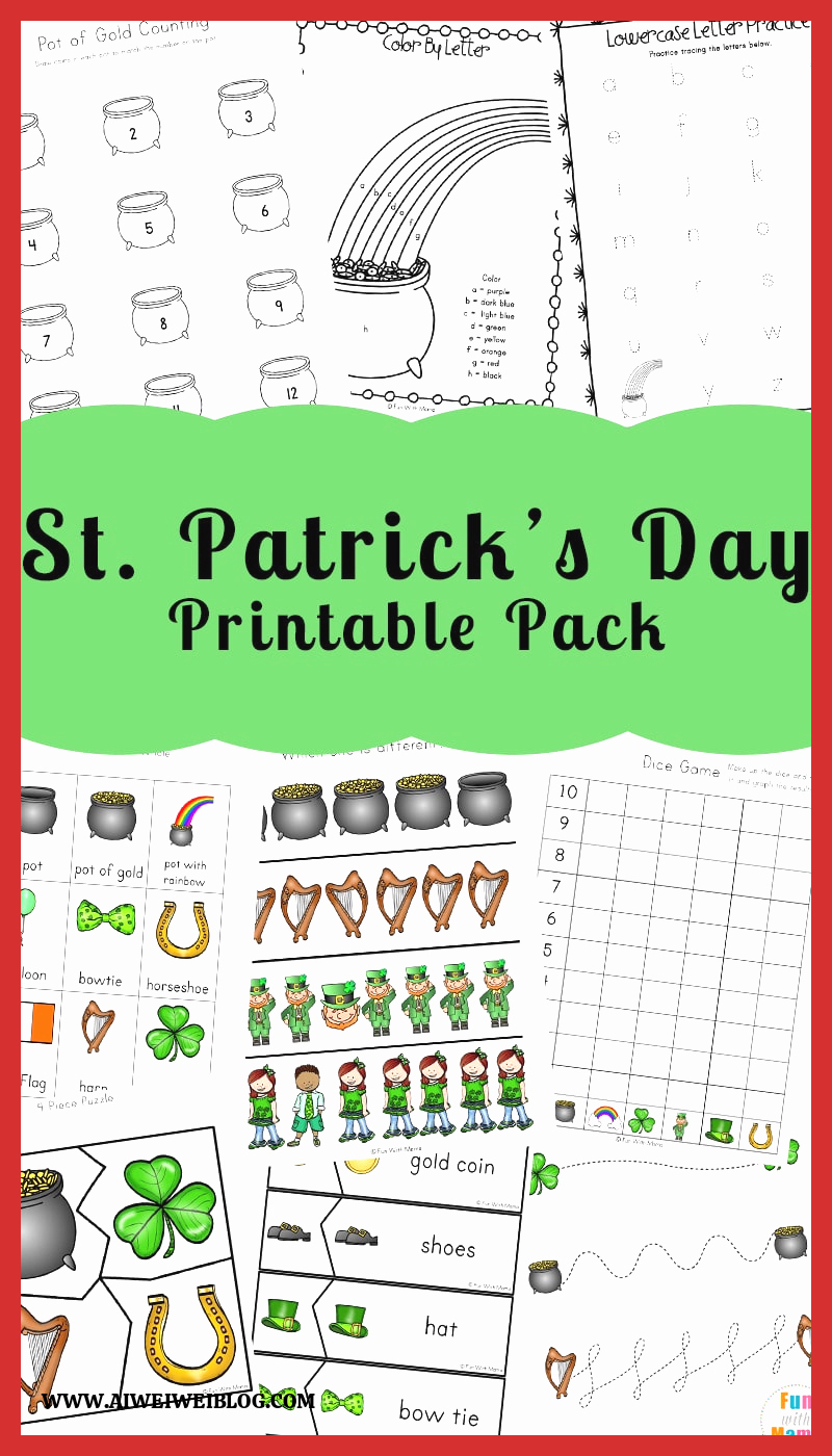 Patrick Day Worksheets for Kids Awesome St Patrick S Day Coloring Pages and Activities Fun with Mama