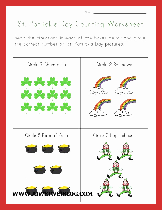 Patrick Day Worksheets for Kids Inspirational St Patricks Day Worksheets Best Coloring Pages for Kids