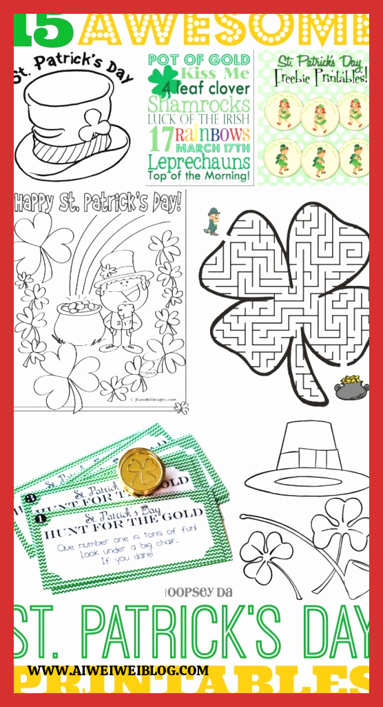 Patrick Day Worksheets for Kids top 15 Awesome St Patrick S Day Free Printables for Kids