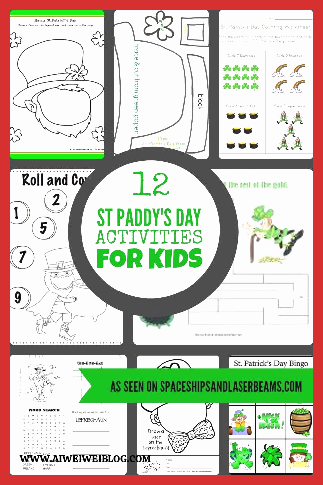 Patrick Day Worksheets for Kids Unique 17 St Patrick S Day Games and Activities for Kids