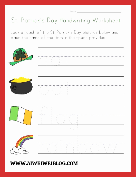 Patrick Day Worksheets for Kids Unique Saint Patrick Day Worksheet