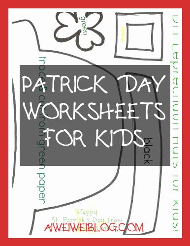 Patrick Day Worksheets for Kids Unique St Patrick S Day Crafts for Kids Printables